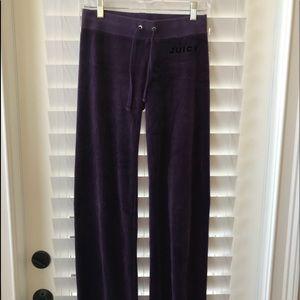 Juicy Couture Purple Velour Pants Size XS